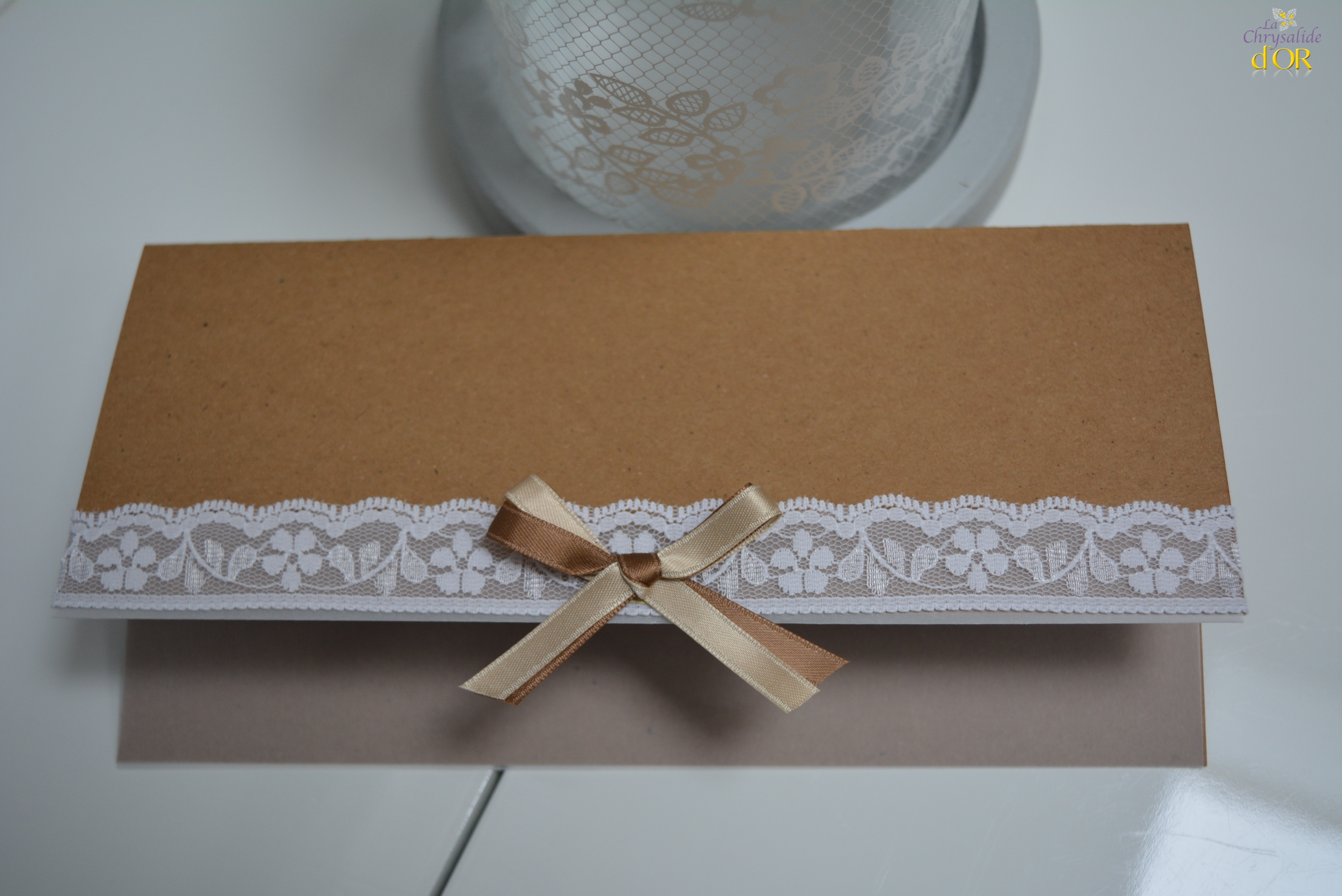 faire-part vintage papier kraft